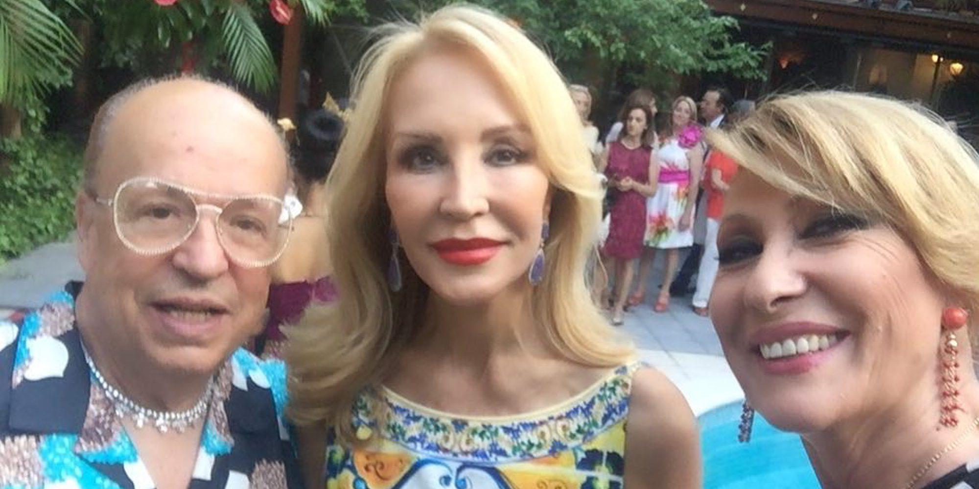 Rosa Benito, toda una estrella junto a Carmen Lomana y Rappel en la boda tailandesa de unos amigos