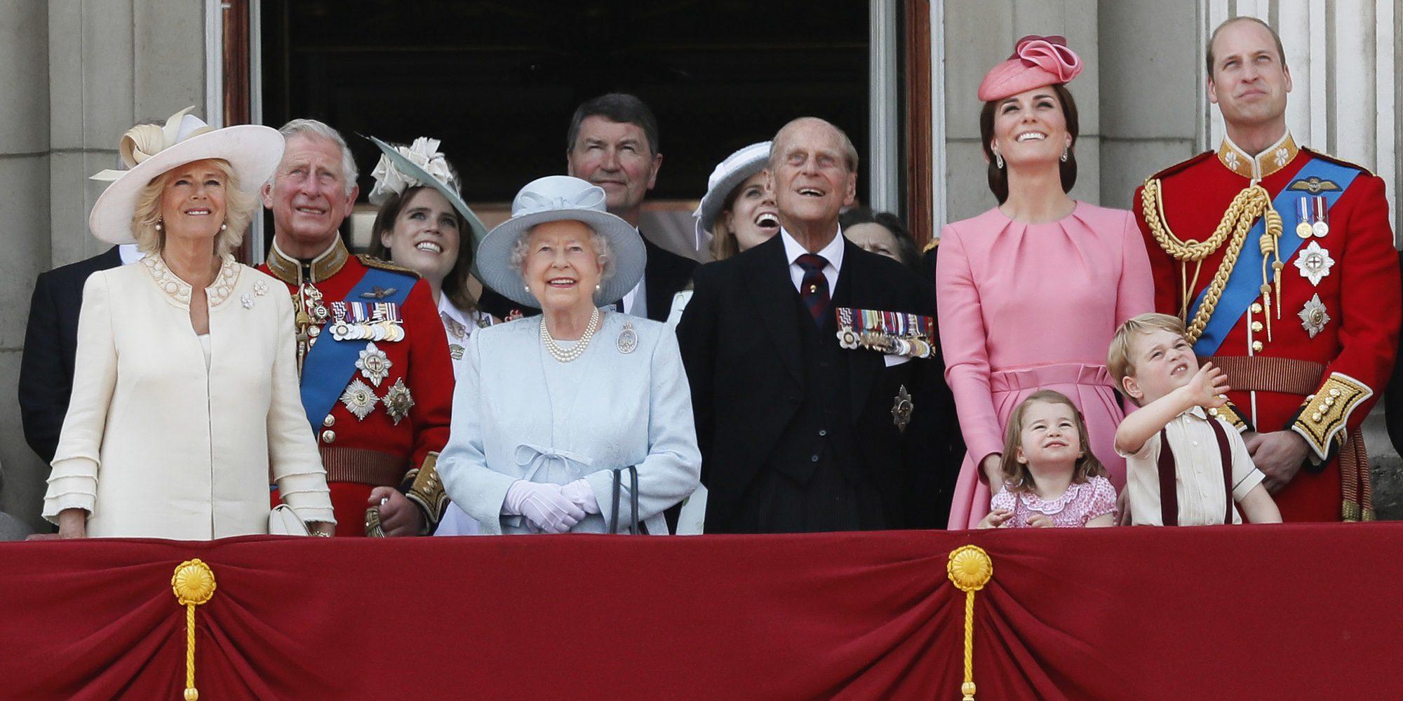 El Príncipe Jorge y la Princesa Carlota, protagonistas de la Trooping The Colour