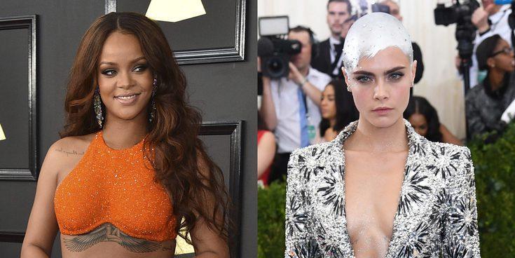 Cara Delevingne fascinada con los pechos de Rihanna