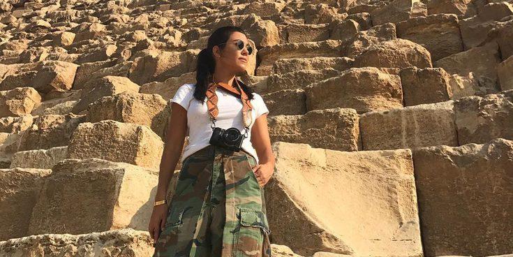 Kourtney Kardashian presume de sus vacaciones en Egipto junto a su nuevo novio Younes Bendjima