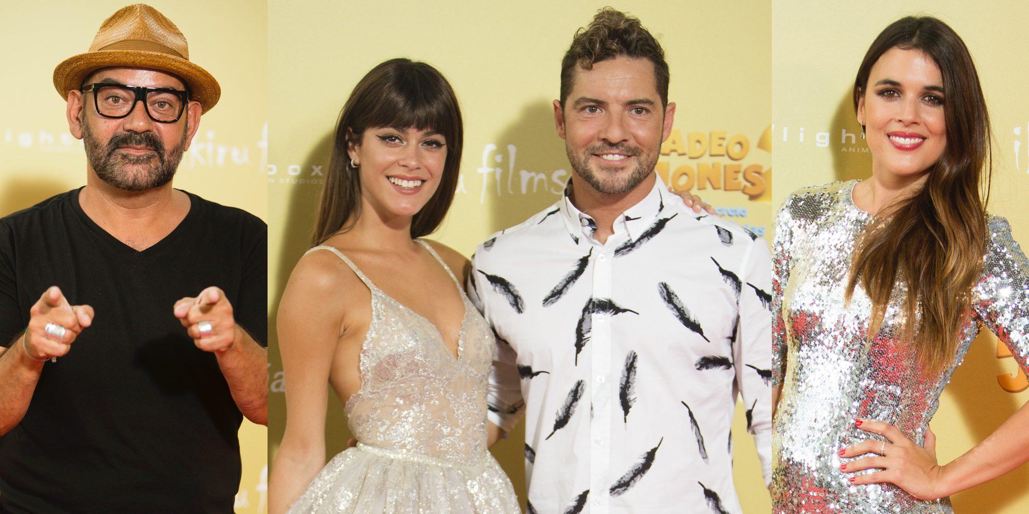 David Bisbal, Tini Stoessel o Adriana Ugarte brillan con luz propia en el estreno de 'Tadeo Jones 2'