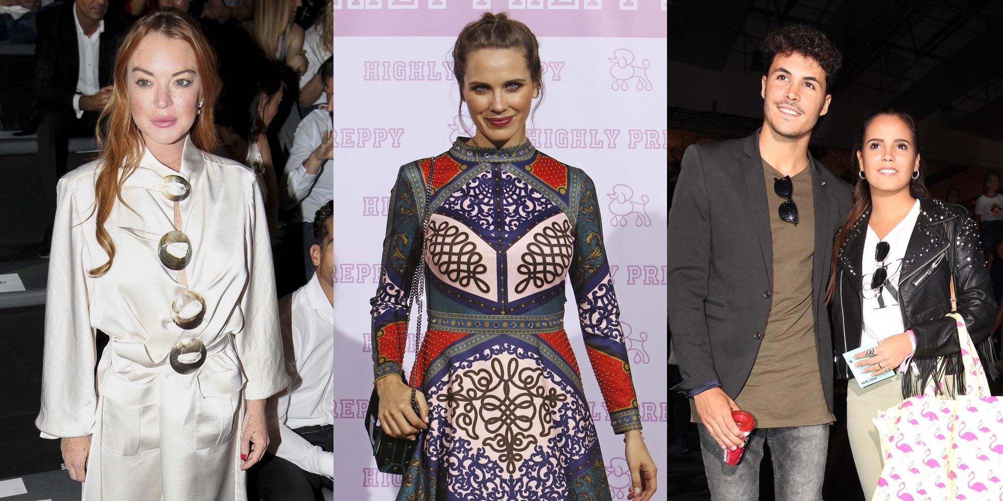 Gloria Camila y Kiko, Lindsay Lohan... Los famosos no pierden detalle en la Madrid Fashion Week