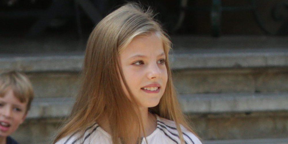 La Infanta Sofía aparece lesionada en el Día de la Hispanidad 2017