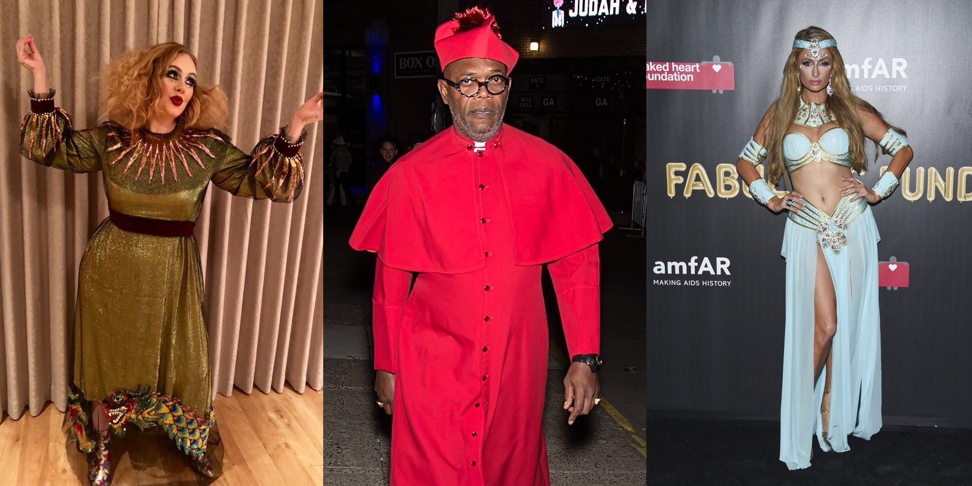 Adele, Samuel L. Jackson, Paris Hilton y las Kardashian sorprenden con sus disfraces de Halloween 2017