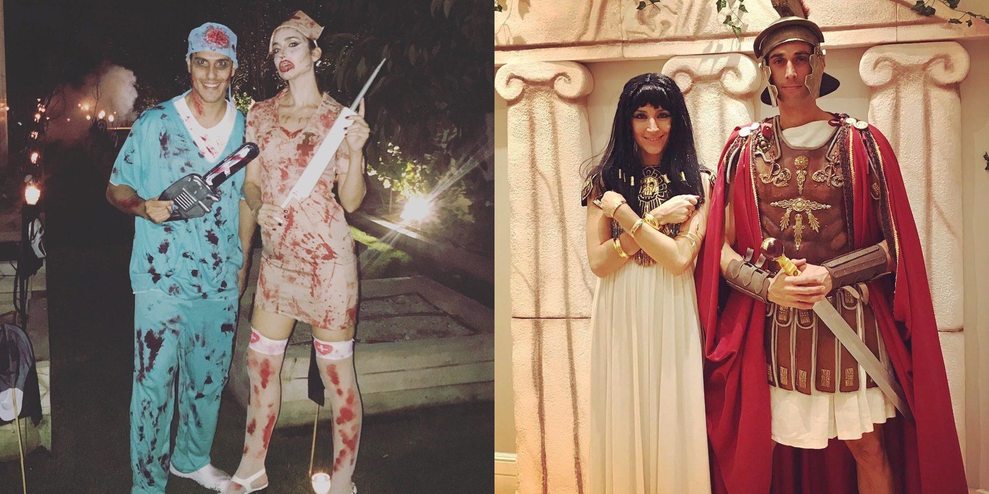 Así son los disfraces de Helen Lindes, Rudy Fernández, Álvaro Arbeloa y Carlota Ruiz para Halloween 2017