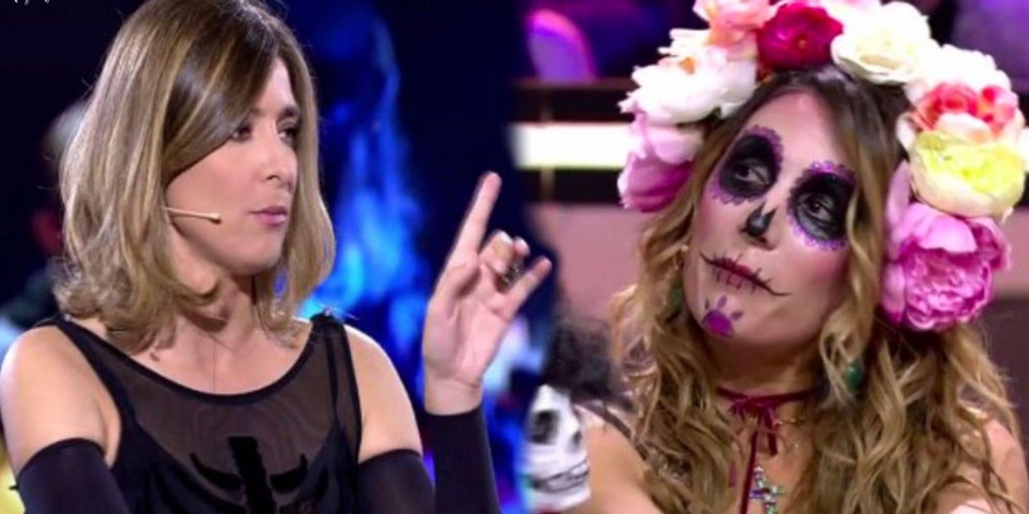 El rifirrafe entre Sandra Barneda y Nagore Robles en 'Gran Hermano Revolution' por un comentario hacia Carlos Lozano