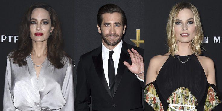 Angelina Jolie, Jake Gyllenhaal o Margot Robbie brillaron con luz propia en los Hollywood Film Awards 2017