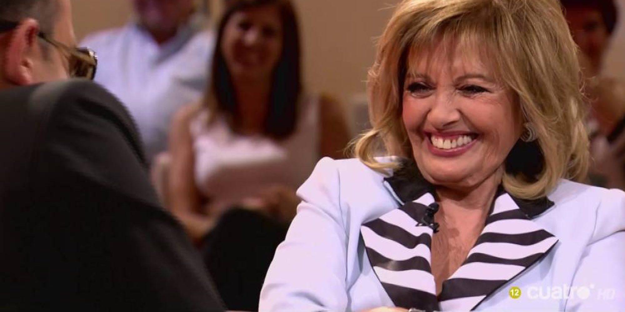 María Teresa Campos confiesa que se fumó un porro con Joaquín Sabina