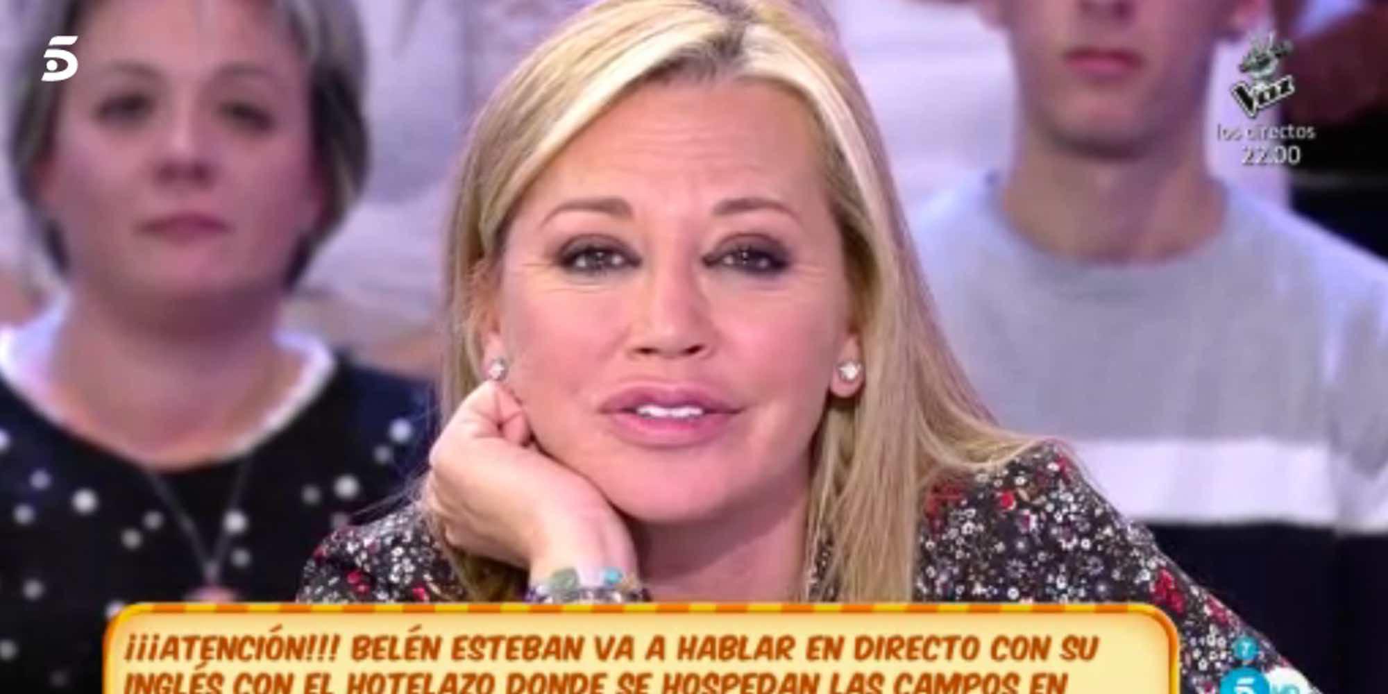 """Belén Esteban responde a la petición de paz de Toño Sanchís: """"Cuenta cómo va el proceso, cuéntalo. ¡Pá-ga-me!"""""""