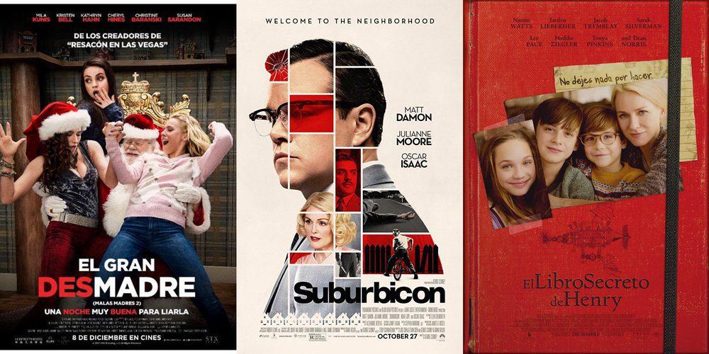 'Suburbicon', 'El gran desmadre' y 'El libro secreto de Henry' protagonizan los estrenos de esta semana