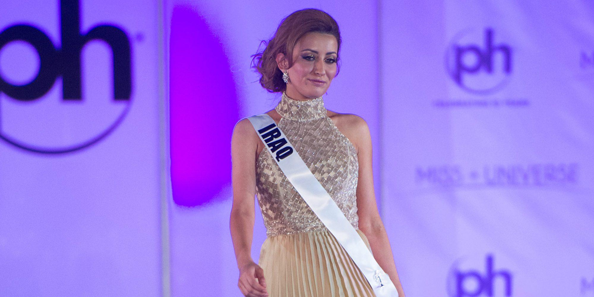 Miss Irak, exiliada después de posar con Miss Israel en una fotografía