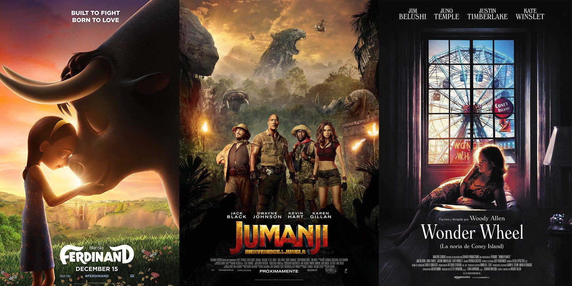 'Jumanji', 'Ferdinand' y 'Wonder Wheel': el cine que llega por Navidad