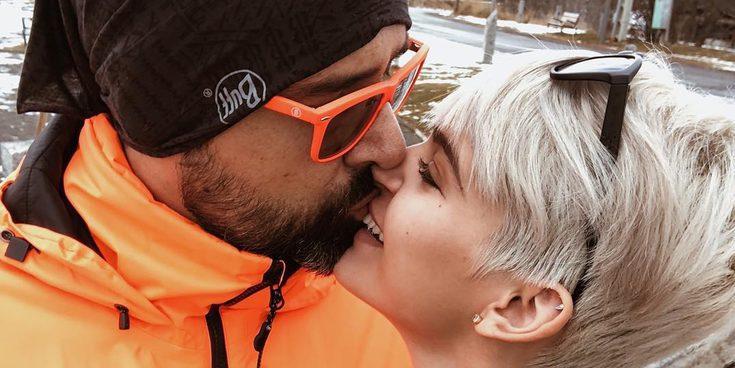 Risto Mejide y Laura Escanes se divierten en la nieve con el hijo del publicista