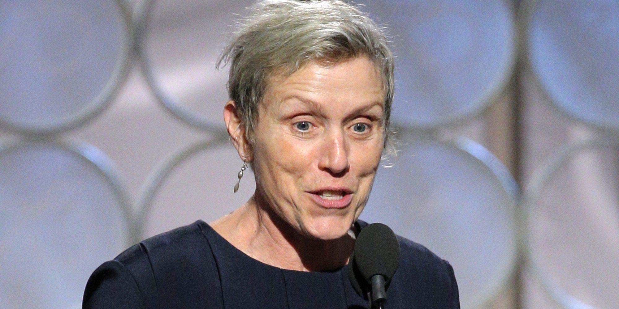 Frances McDormand sufre la censura de la NBC durante su discurso en los Globos de Oro 2018