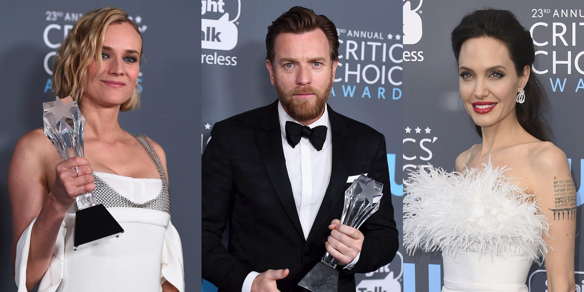 Diane Kruger, Ewan McGregor y Angelina Jolie brillan con luz propia en los Critics' Choice Awards 2017