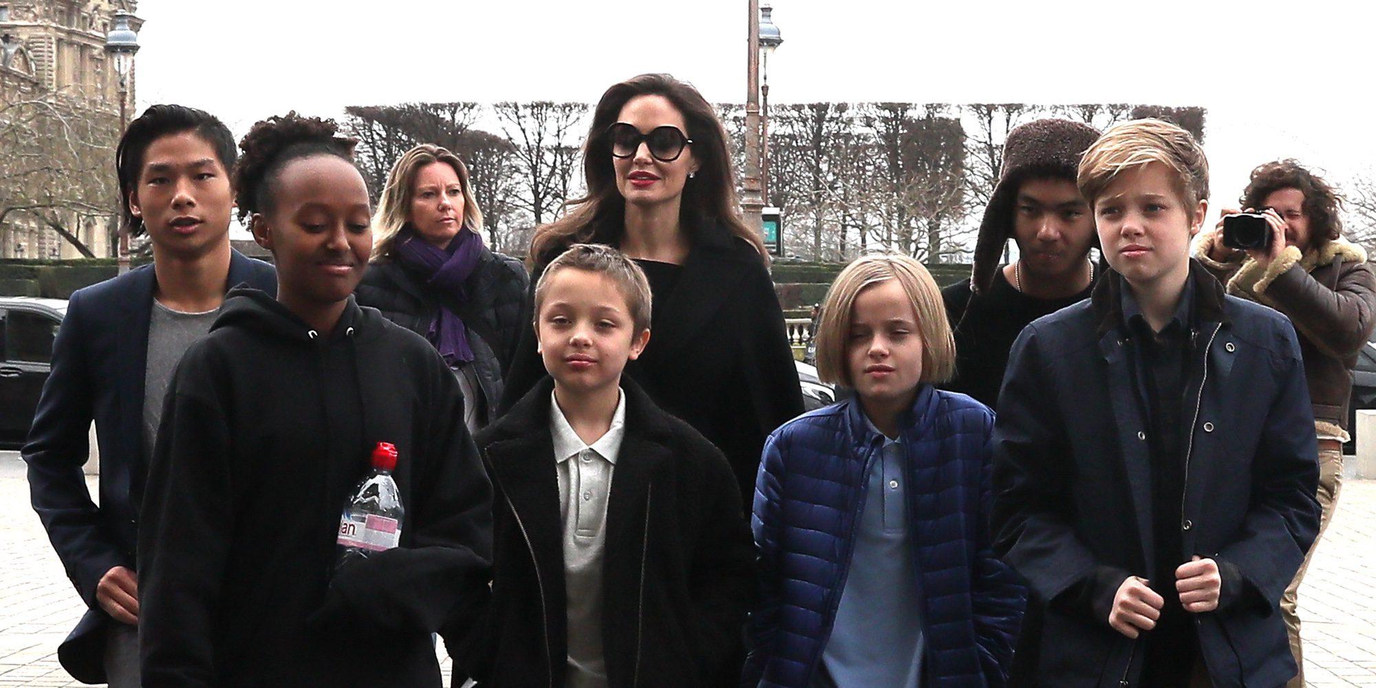 Angelina Jolie compagina sus labores de embajadora de la ONU con la maternidad de paseo por París