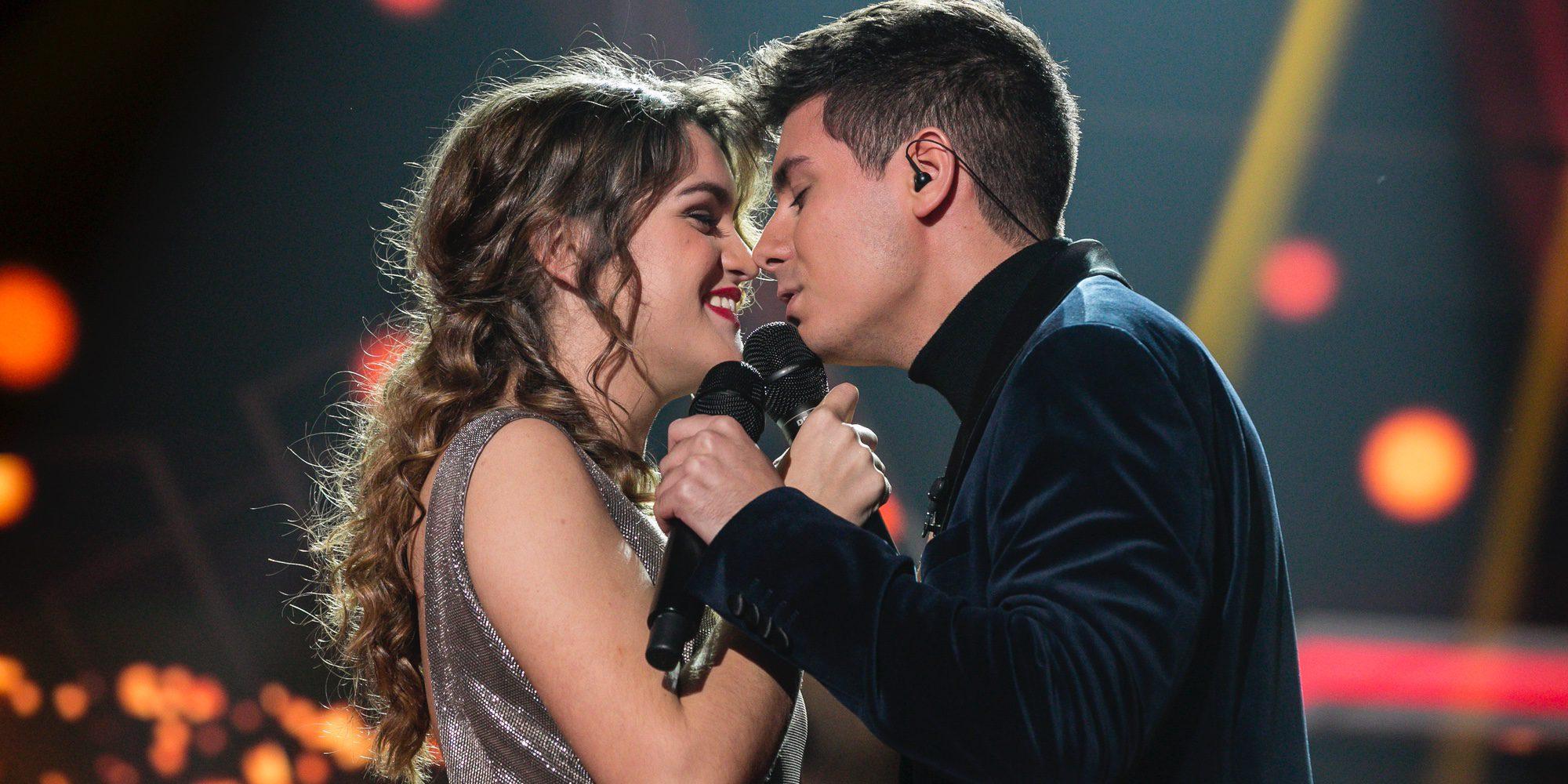 Alfred y Amaia protagonizan 'el beso de España' en la gala 12 de 'OT 2017'