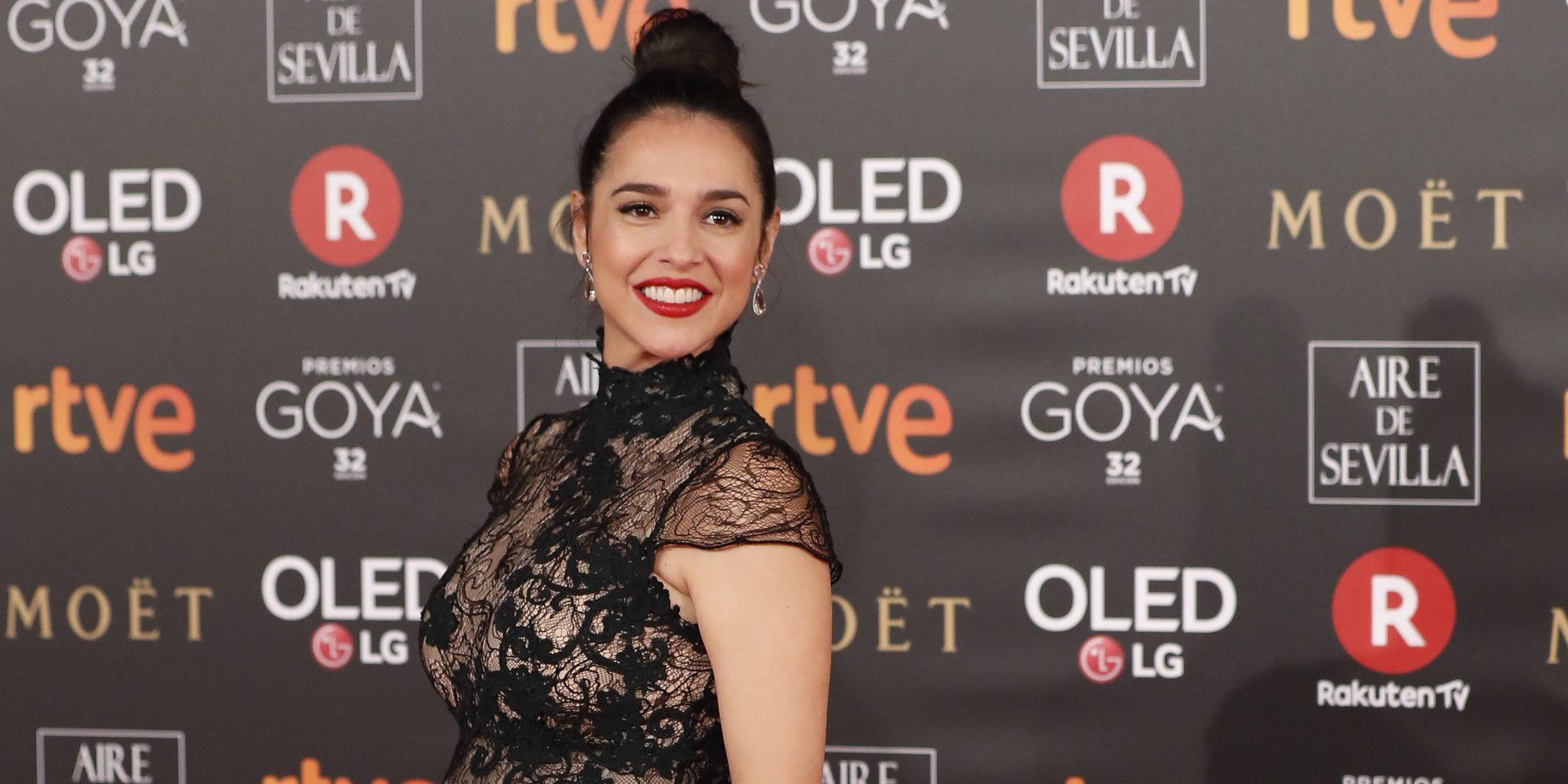 Cristina Brondo presume de embarazo en la alfombra roja de los Goya 2018