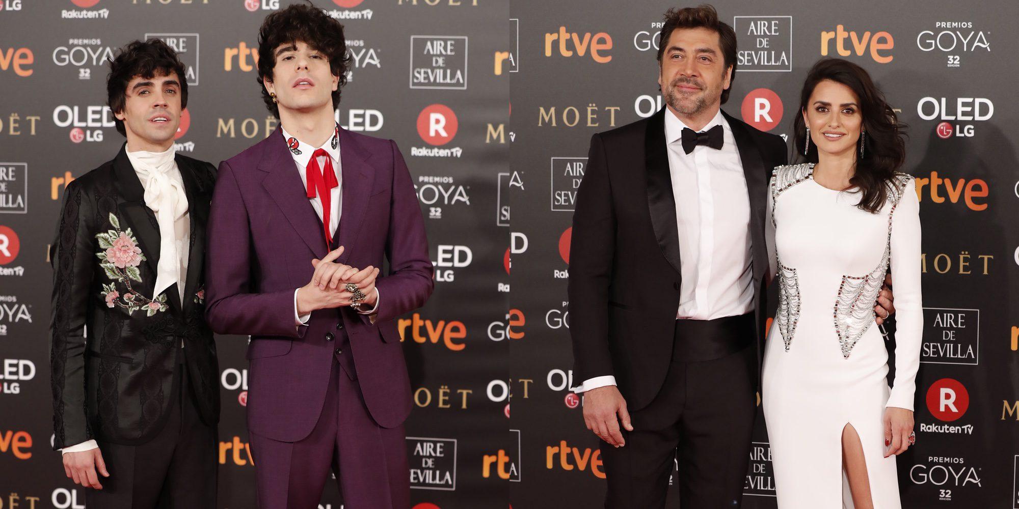 De los Javis a Penélope Cruz y Javier Bardem y Antonio Velázquez y Marta González: las parejas de los Goya 2018
