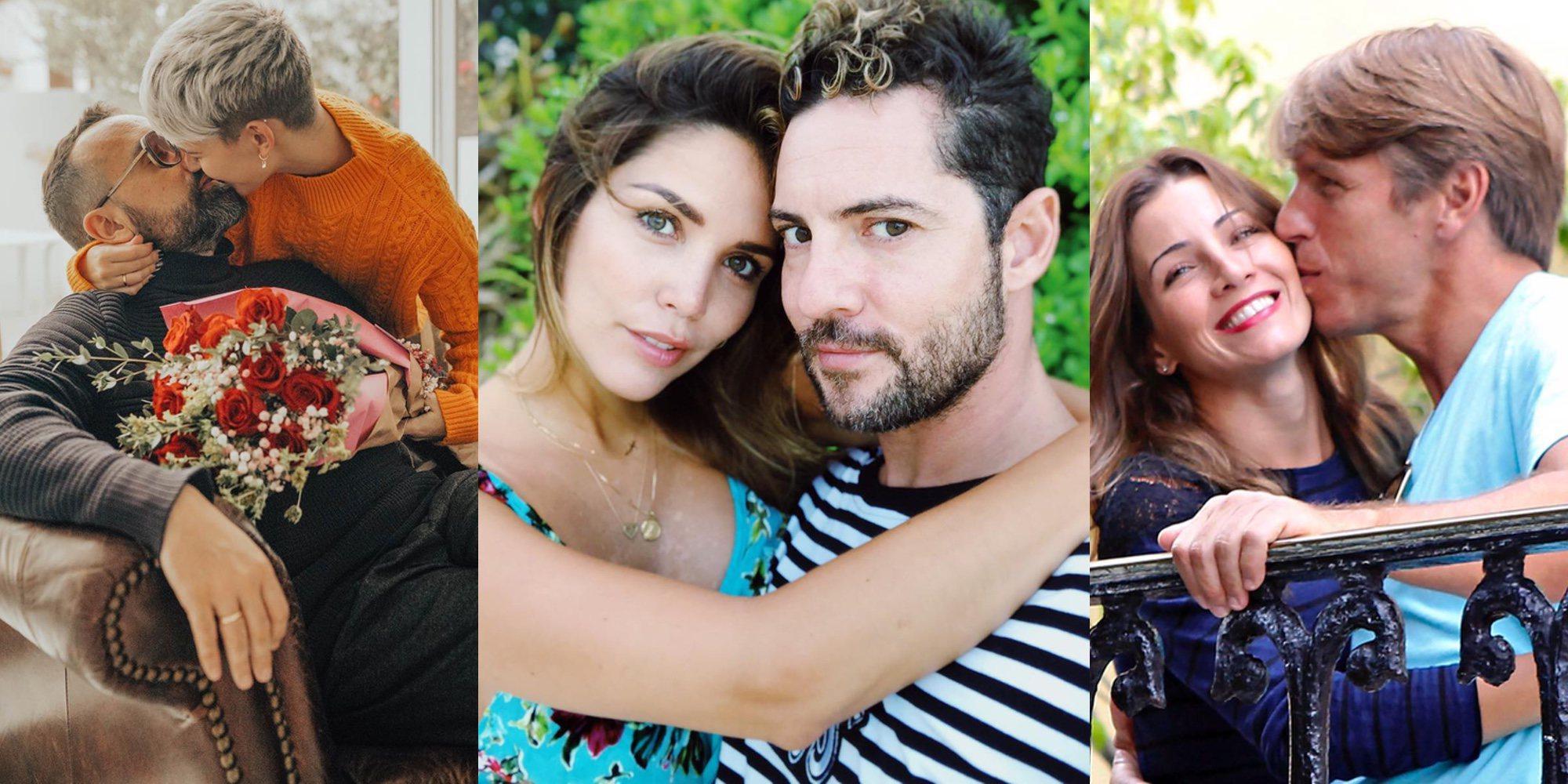 San Valentín 2018: Risto Mejide y Laura Escanes, David Bisbal y Rosanna Zanetti,.. las celebs derrochan amor