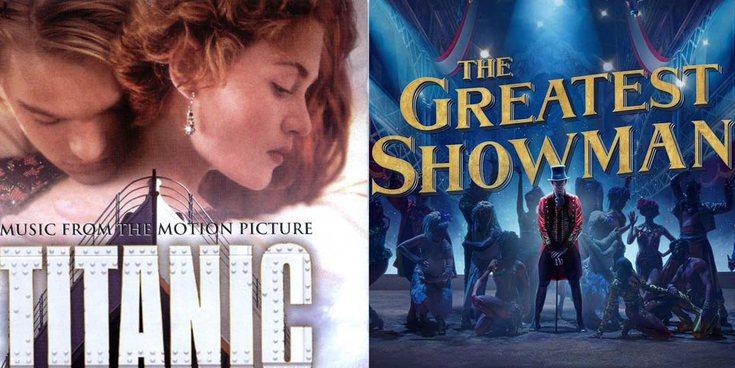 De 'Titanic' a 'El gran showman': 12 BSO que no pueden faltar en tu 'playlist'