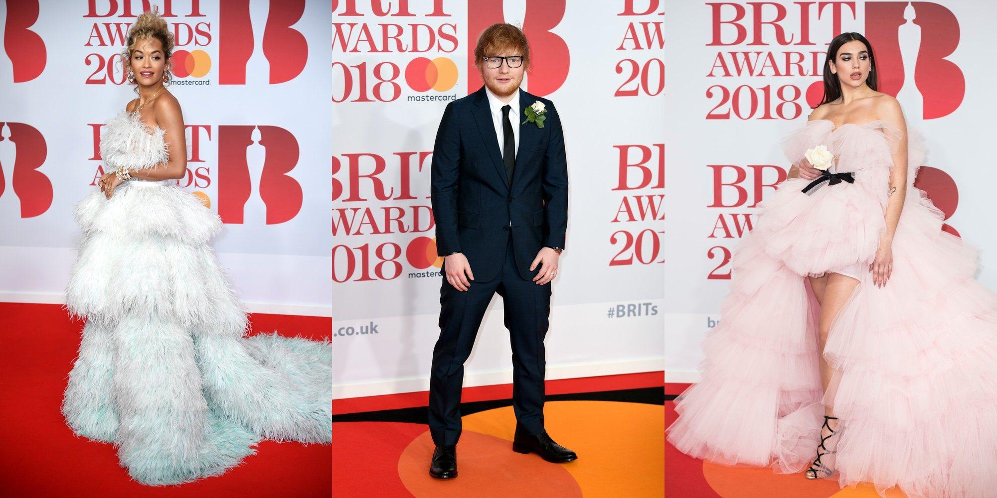 Dua Lipa, Rita Ora y Ed Sheeran entre los más aclamados en la alfombra roja de los Brit Awards 2018