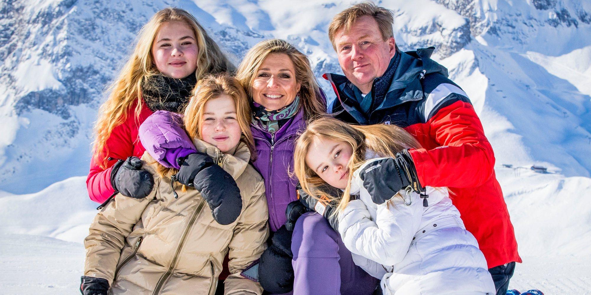 La recuperación de la Princesa Ariane y el reciclaje de Máxima de Holanda marcan el posado invernal de la Familia Real