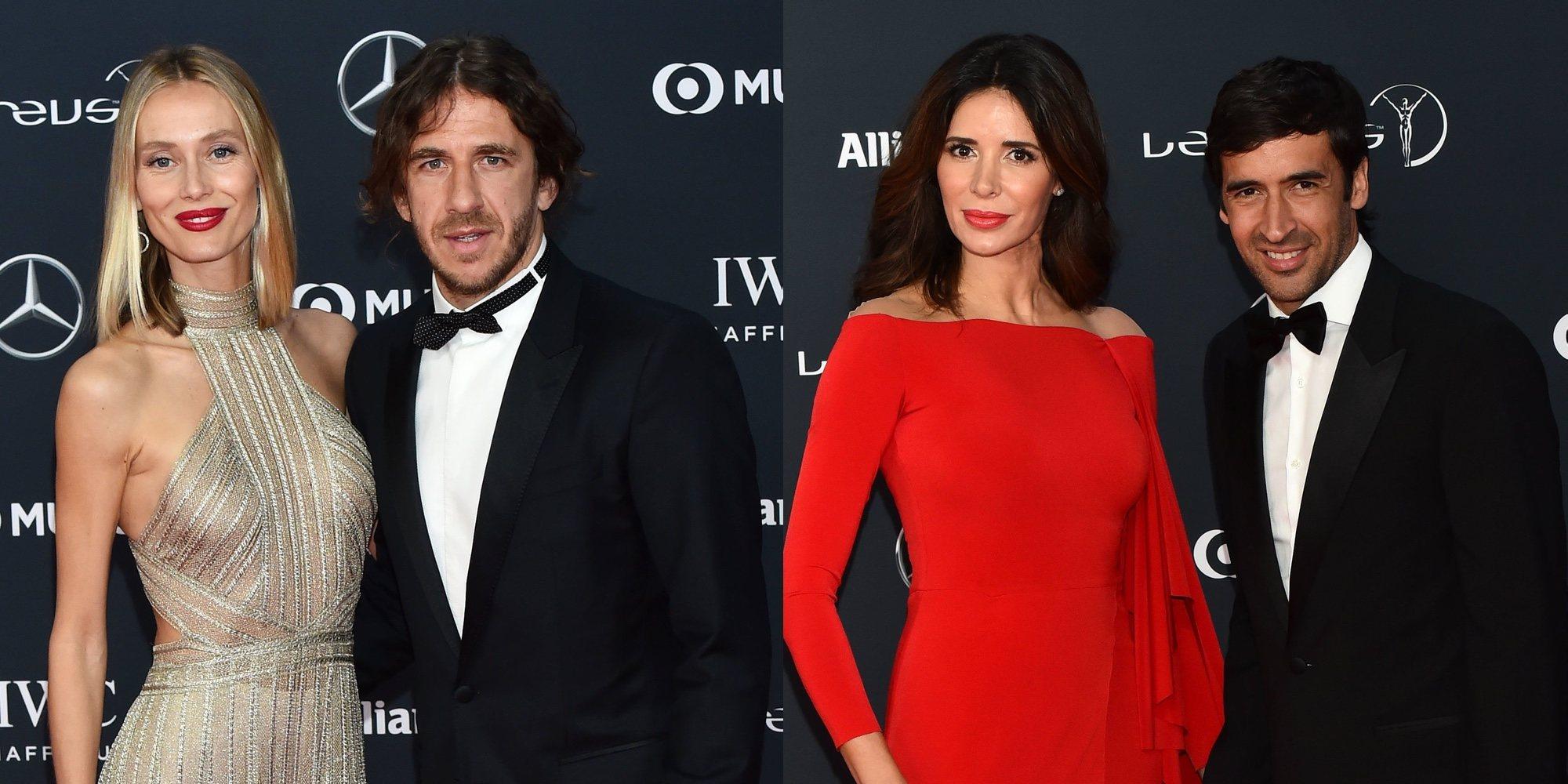 Carles Puyol y Vanessa Lorenzo, Raúl González y Mamen Sanz: mucho amor en los Premios Laureus 2018
