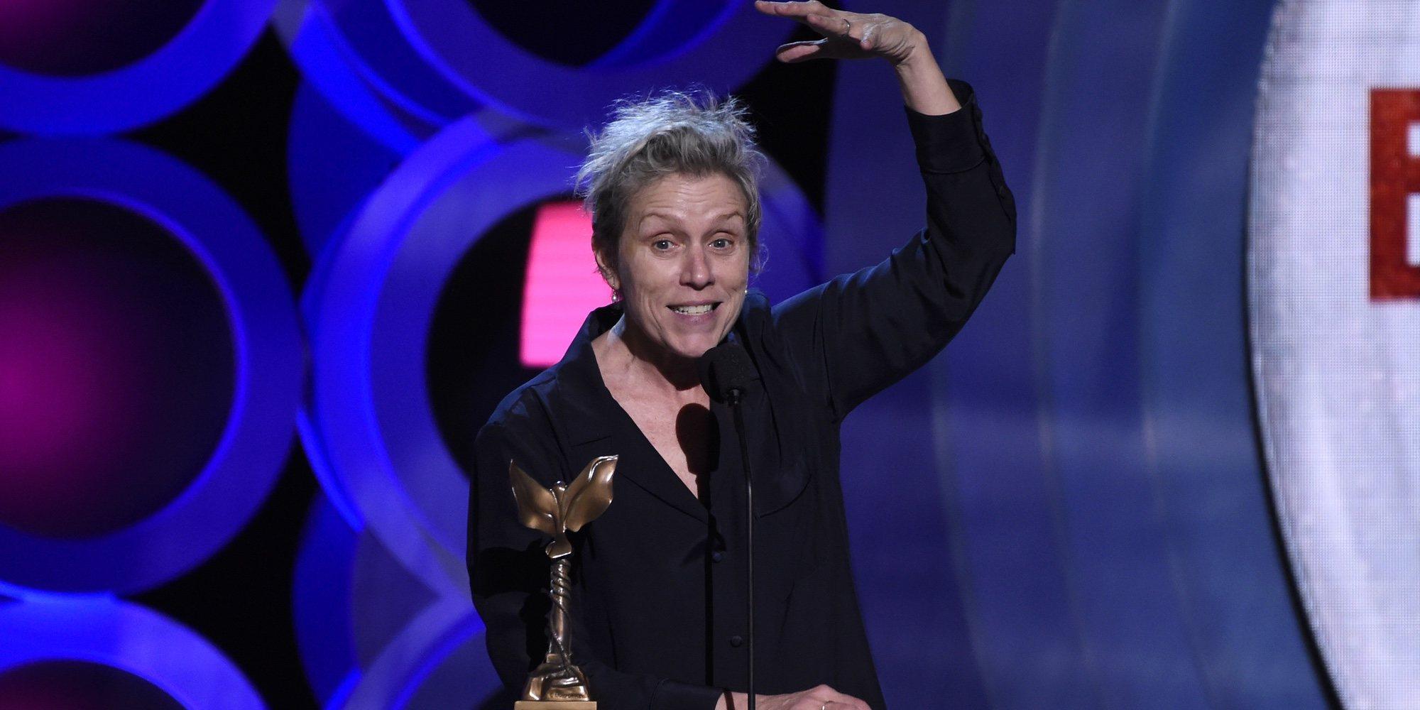 El polémico discurso de Frances McDormand en los Independent Spirit Awards