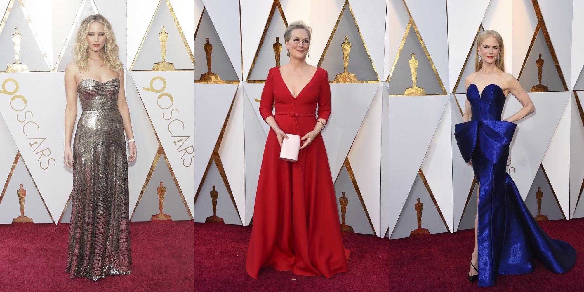 Nicole Kidman y Meryl Streep deslumbran en la alfombra roja Premios Oscar 2018