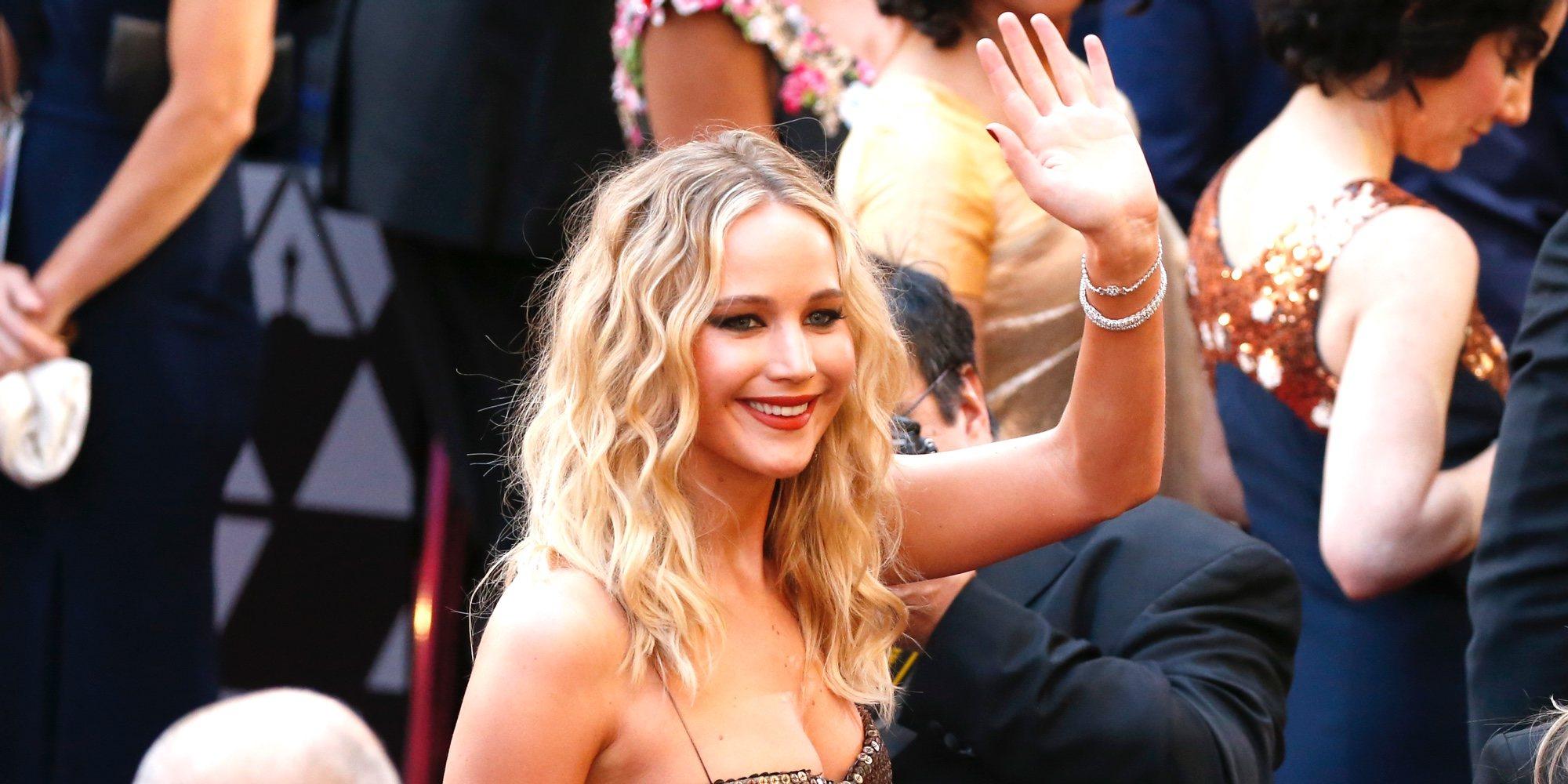 Jennifer Lawrence y su copa de vino, protagonistas de la Gala de los Oscars 2018