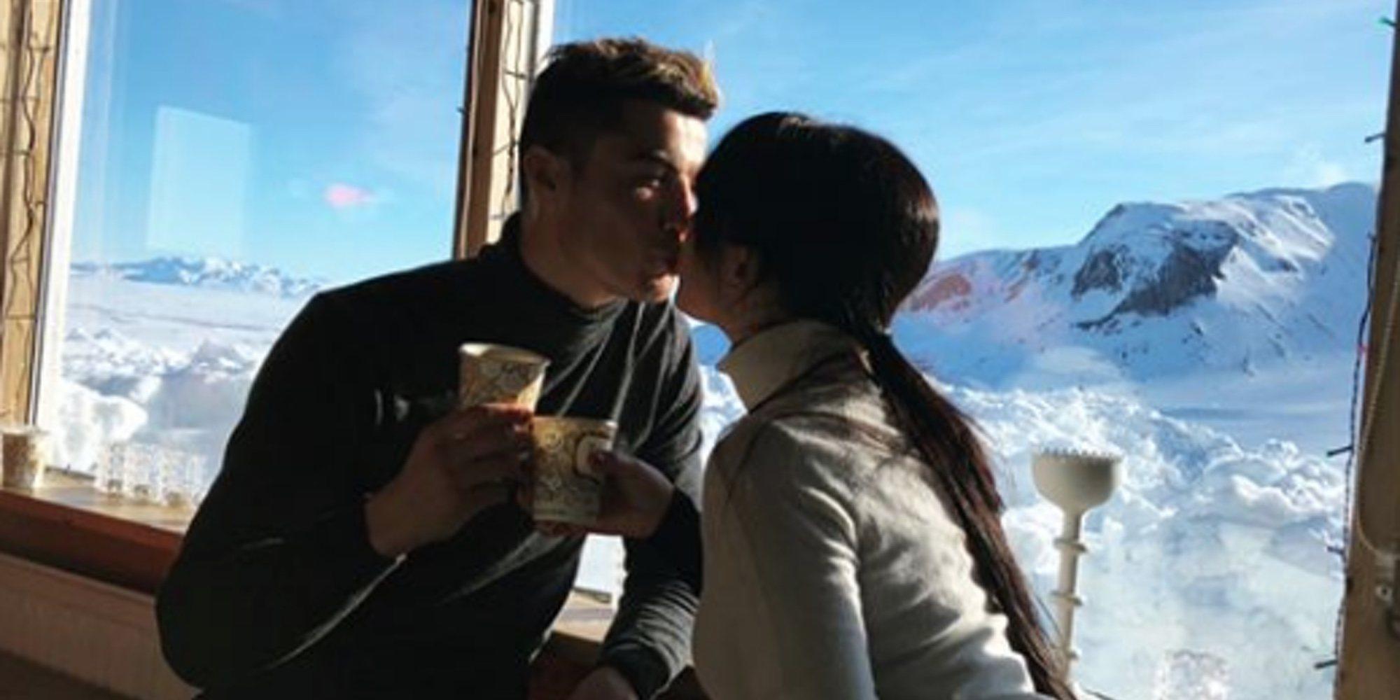 Georgina Rodríguez y Cristiano Ronaldo disfruta de su viaje más romántico e invernal