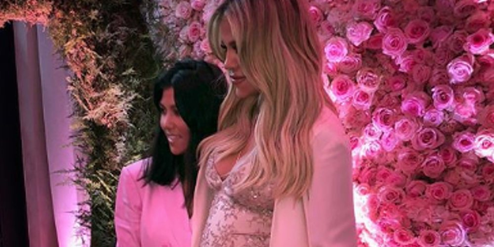 Un mundo rosa: La increíble baby shower de Khloe Kardashian ante la ...