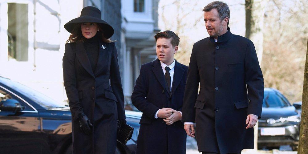 Federico y Mary de Dinamarca, destrozados en el funeral de su amiga Juliane Meulengracht Bang