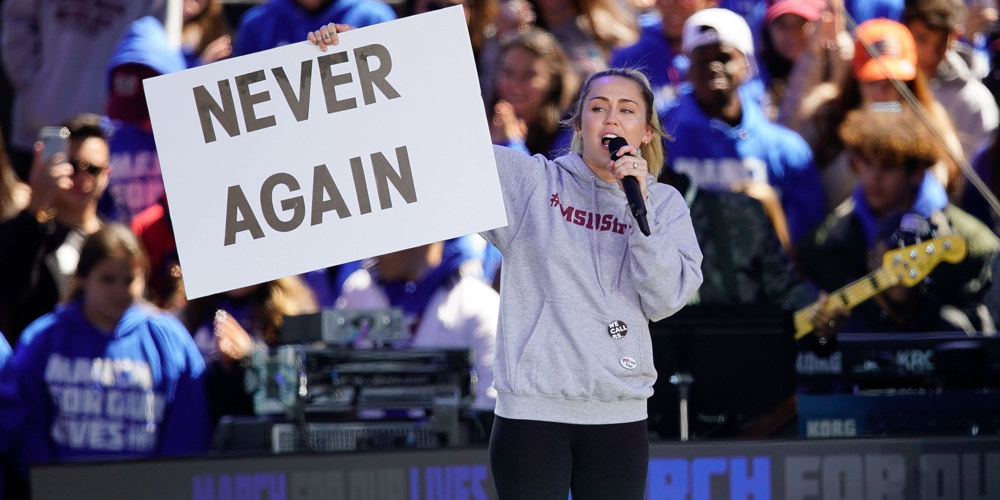 Selena Gomez, Miley Cyrus... Los famosos no se pierden la multitudinaria marcha contra las armas