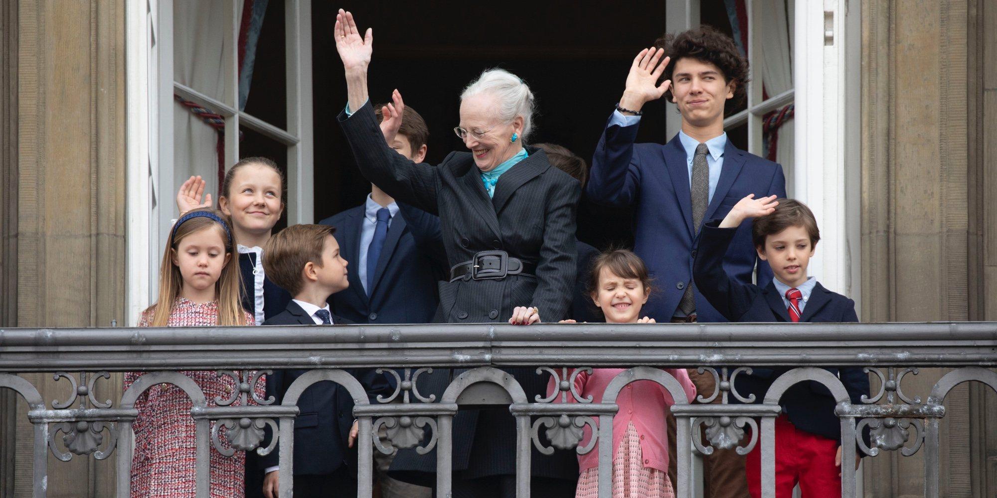 Margarita de Dinamarca se rodea de sus nietos en su primer cumpleaños tras la muerte del Príncipe Enrique