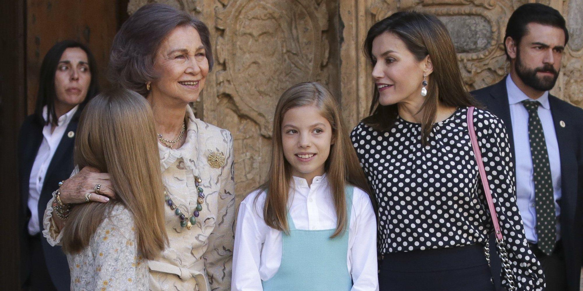 La Reina Letizia habría avisado a la Reina Sofía de que no quería que se hiciera fotos con Leonor y Sofía
