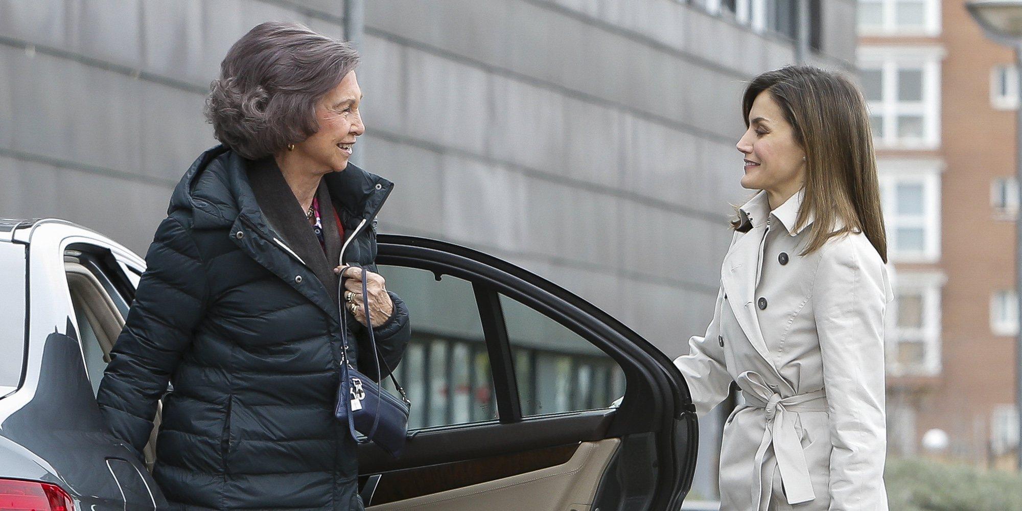 La 'teatral' y preparada puesta en escena de la Reina Letizia con la Reina Sofía para limpiar su imagen