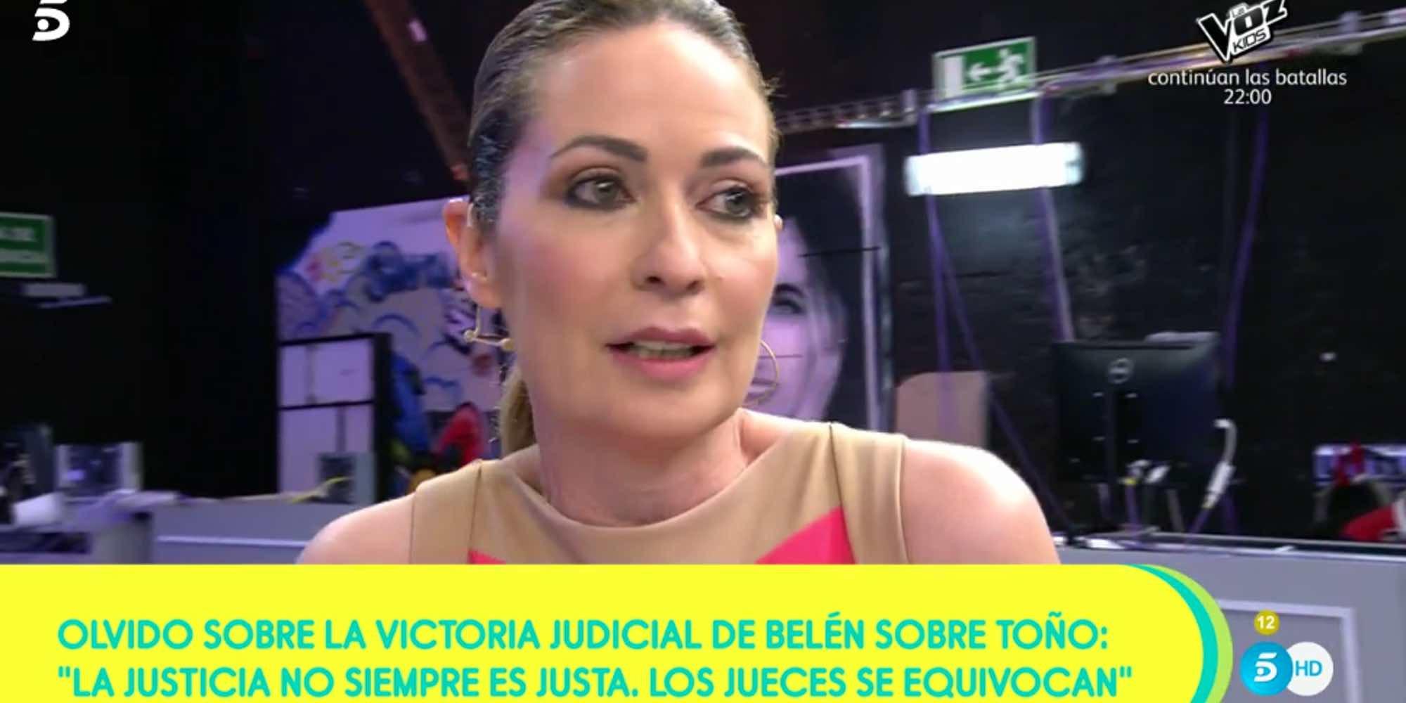 """Olvido Hormigos tras el último varapalo judicial de Toño Sanchís: """"Los jueces se equivocan"""""""