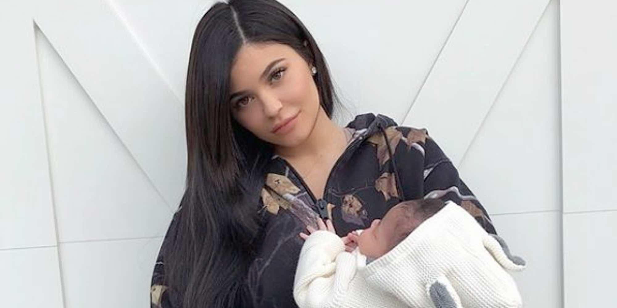 La maternidad hace olvidarse a Kylie Jenner de su faceta influencer