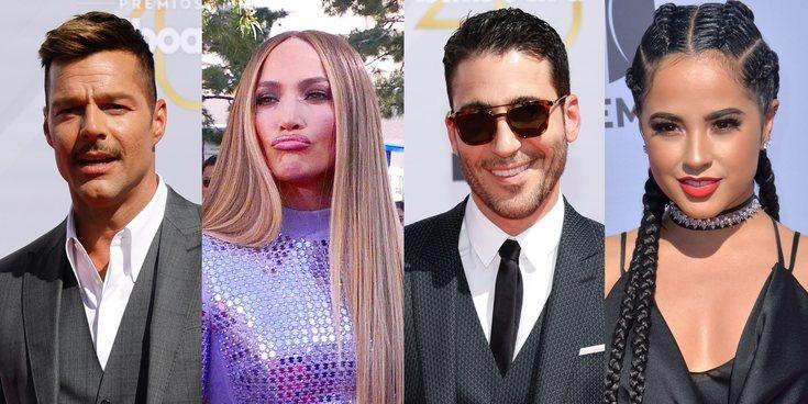 Jennifer Lopez , Miguel Ángel Silvestre y otros famosos en los Premios Billboard de la Música Latina 2018
