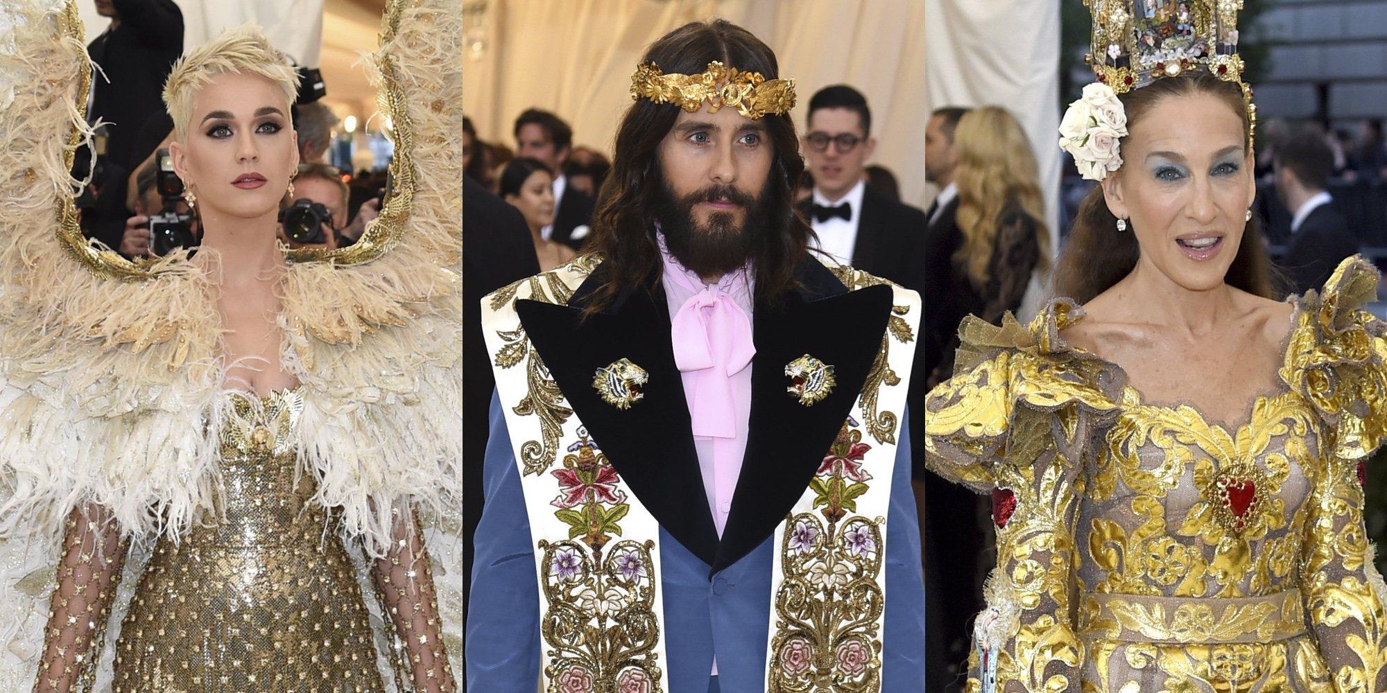 Katy Perry, Jared Leto y Sarah Jessica Parker fueron hechos un 'Cristo' a la Met Gala 2018