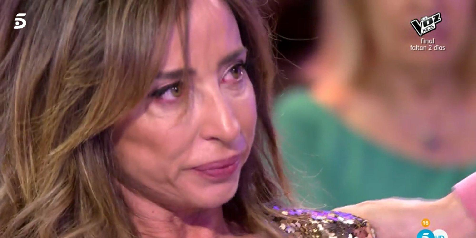 María Patiño abandona el plató de 'Sálvame Deluxe' entre lágrimas tras una discusión con Gustavo González