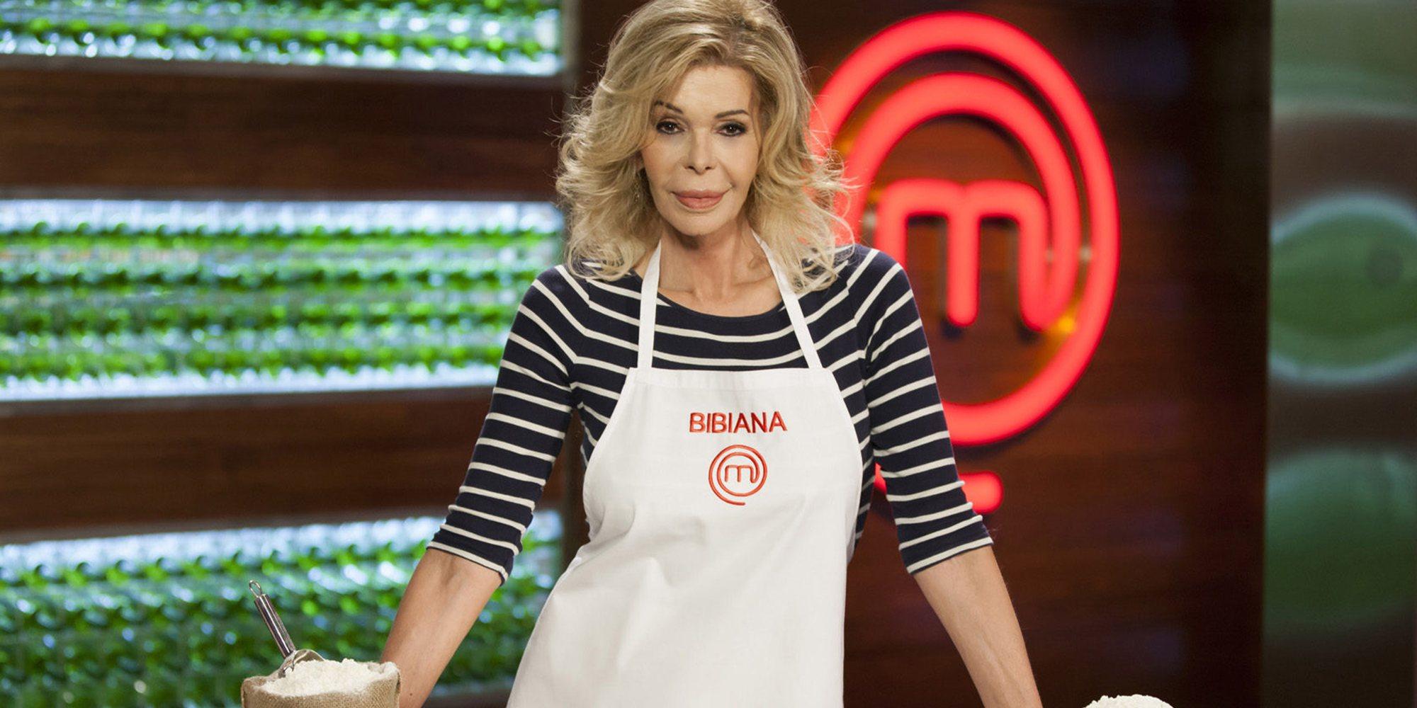 Así ha sido el regreso de Bibiana Fernández a 'MasterChef 6' como ayudante de Fabio con mímica incluida
