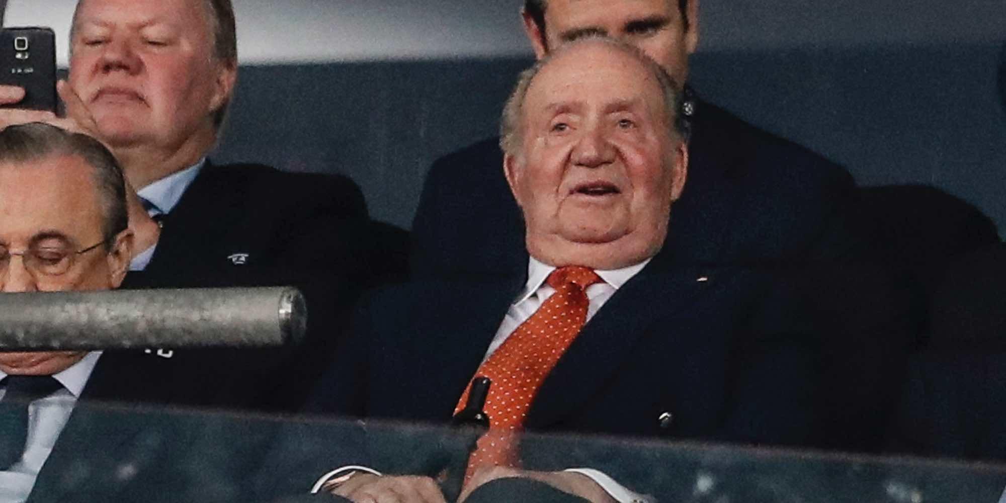 La alegría del Rey Juan Carlos por la victoria del Real Madrid en la Champions 2018