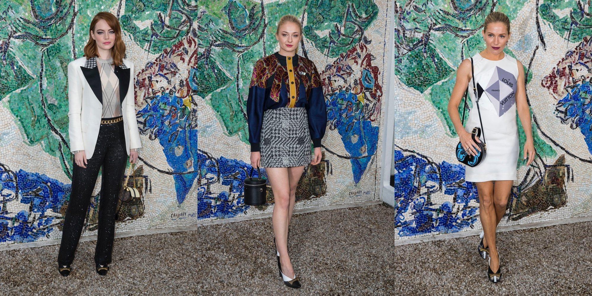 Emma Stone, Sophie Turner o Sienna Miller: los famosos no se pierden el desfile Louis Vuitton Cruise 2019
