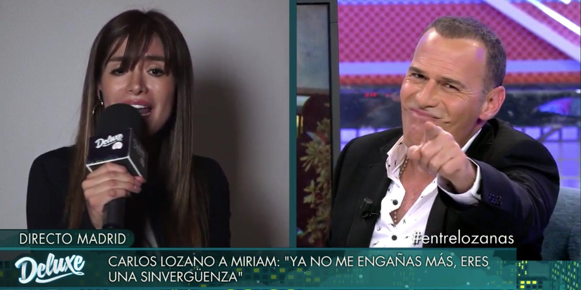 """Carlos Lozano a Miriam Saavedra: """"Tú has llegado a la televisión por hablar mierda de mí"""""""