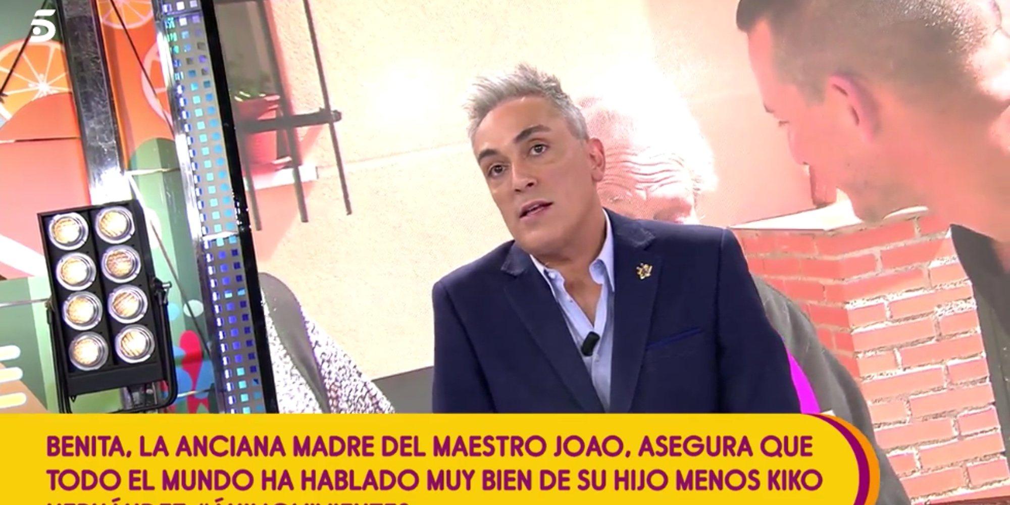 """Kiko Hernández pide disculpas a Benita, la madre de Maestro Joao: """"Le pido de rodillas mil perdones"""""""