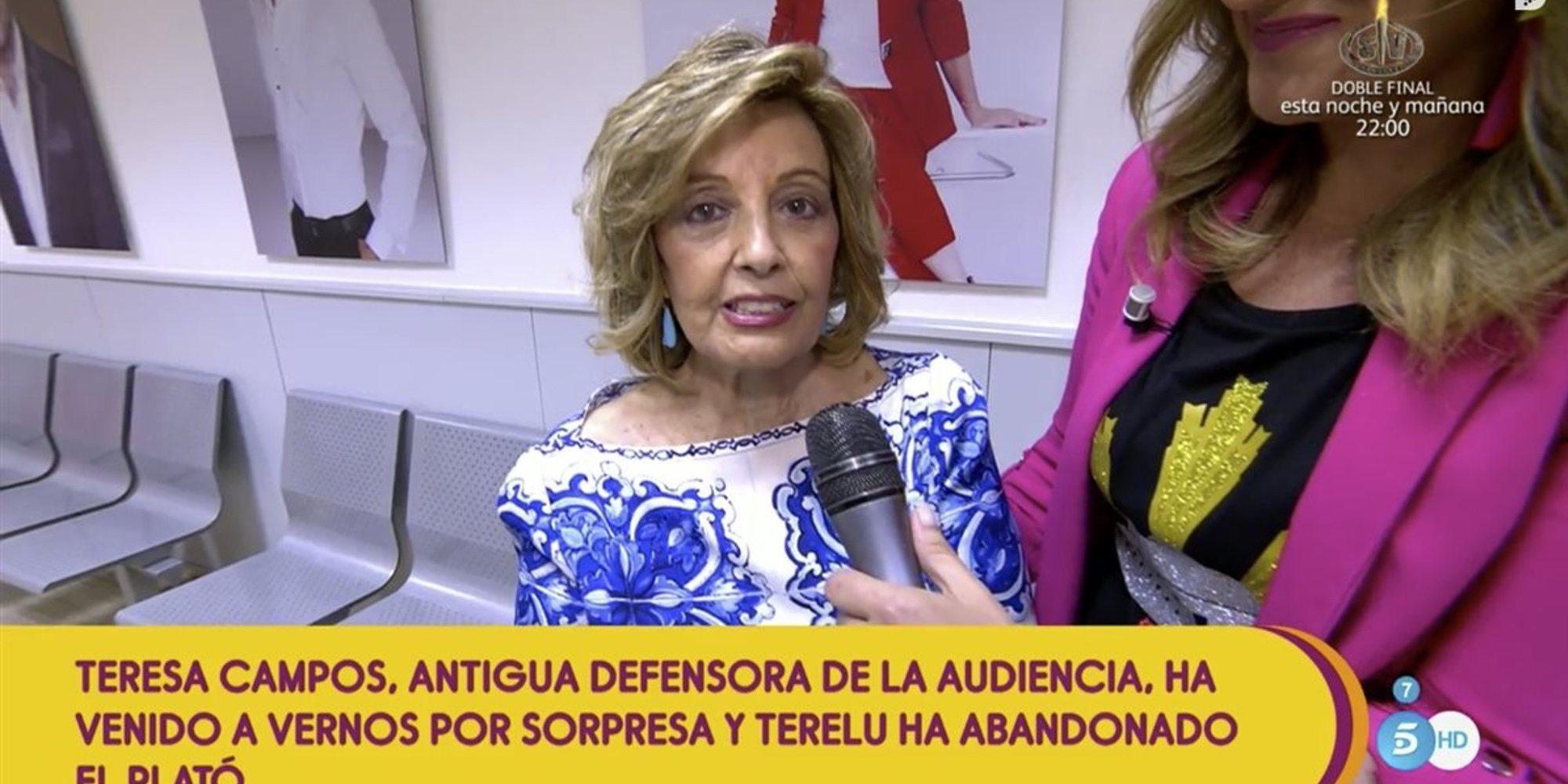 María Teresa Campos reaparece en 'Sálvame' y afirma que no tiene ninguna secuela del ictus