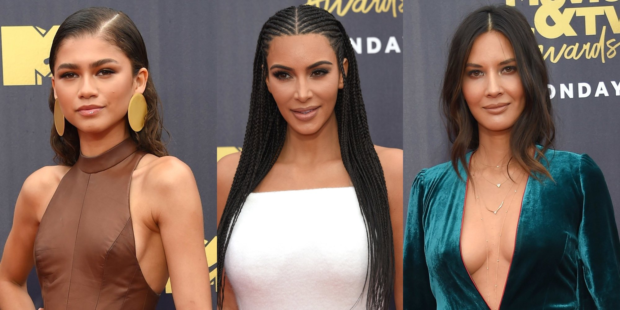 Kim Kardashian o Zendaya brillan en la alfombra roja de los MTV Movie & TV Awards 2018
